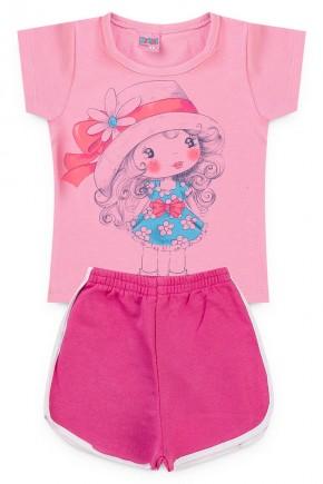 conjunto rosa menina piradinhos feminino