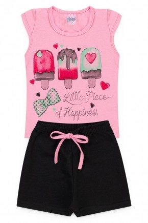 conjunto rosa picole piradinhos