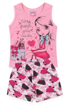 conjunto rosa piradinhos menina