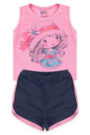 conjuntp rosa menina piradinhos