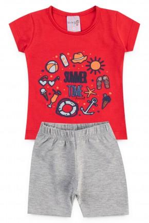 conjunto summer vermelho piradinhos