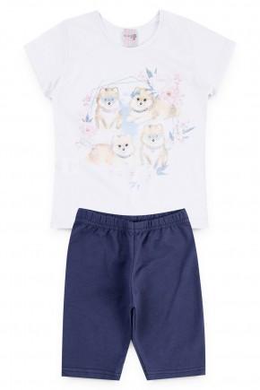 conjunto blusa cachorro piradinhos